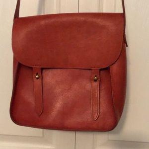 Madewell burnt orange leather purse